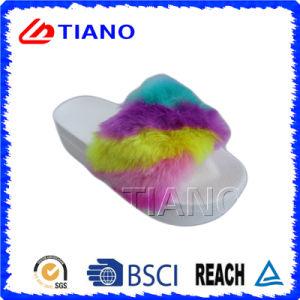 Poussoir extérieur de femmes de PVC de plate-forme élevée supérieure de couleur d'arc-en-ciel (TNK35738)