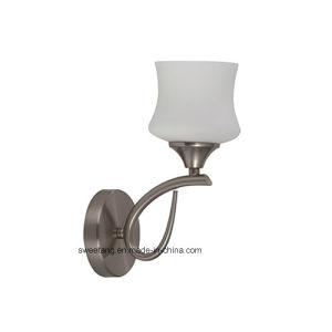 Luminária de parede interior iluminação com sombra de vidro para o quarto