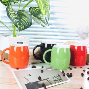 Haute qualité couleur extérieure de forme à billes en céramique émaillée tasse à café