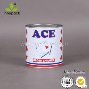 Ronda latas de metal con mango revestimiento químico lata
