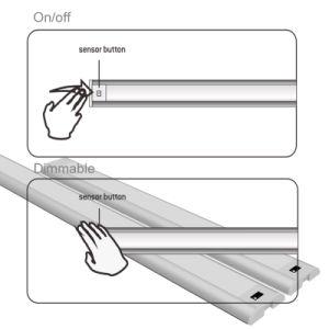 A luz do painel de LED (sensor de infravermelho-on/off varredura & Dimmer)