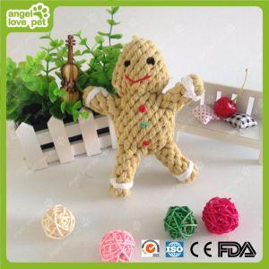 Giocattoli di masticazione dell'animale domestico dei giocattoli della corda del cotone dell'uomo di pan di zenzero