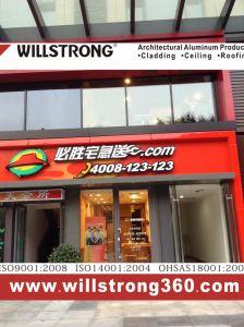 Willstrong Aluminiumumhüllung für Pizza-System Kfc Gaststätte-Fassade-Dekoration