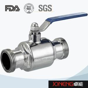 Maschio dell'acciaio inossidabile che filetta la valvola a sfera sanitaria (JN-BLV1020)