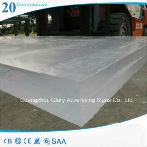 Placa de acrílico transparente para a publicidade e iluminação LED