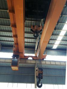 전기 호이스트 드는 기계장치를 가진 5t Qd 두 배 대들보 천장 기중기