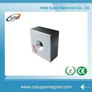Высокое качество N40 неодимовый магнит блока цилиндров с отверстием