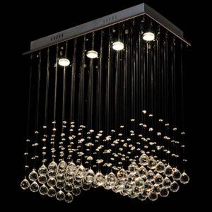 Jantar de cristal contemporânea mais populares da Lâmpada da Luz de Teto Envio gratuito Crystal Cutain vaga luz de tecto