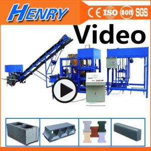 Qt4-20 Cemento automática máquina de fabricación de ladrillos huecos pavimentadora de concreto, máquina bloquera en maquinaria de construcción