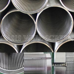 Proveedor de acero inoxidable 316 Johnson pozo de agua de la pantalla de envoltura