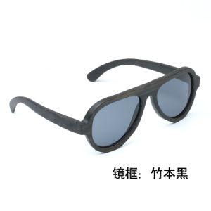 Commerce de gros fashion promotion Logo personnalisé Sport Style UV400 Bambou Lunettes de soleil polarisées