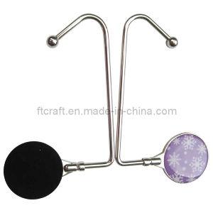 Saco de metal redondas personalizadas cabide Gancho (FTBH4305J)