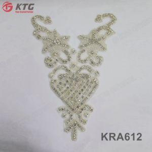 China Fornecedor Design Personalizado vestido de noiva Rhinestone Suite apliques