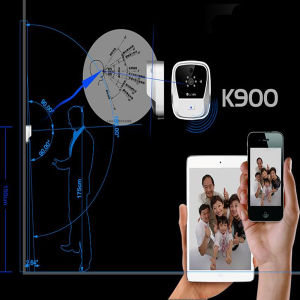 Audio bidireccional y unidireccional Video K900 Timbre WiFi podría ser utilizado en las familias comunes