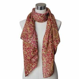 Fashion女性ペーズリーによって印刷される綿のボイルによって編まれるスカーフ(YKY4064)