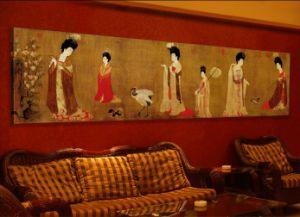 Pitture da portare di Frameless del randello del ristorante dell'hotel delle signore della pittura decorativa