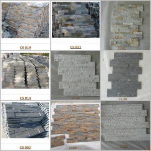 壁のクラッディングのためのさまざまなスレートおよびQuartizeの石のベニヤ/培養された石