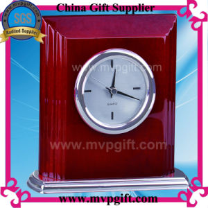 Relógio de mesa de quartzo de madeira de alta qualidade