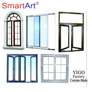 Rupture thermique verre Heat-Insulated Casement fenêtre en aluminium avec moustiquaire
