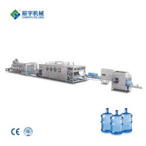 Bouteille de 5 gallons entièrement automatique Machine de remplissage de l'eau/lavage capping de remplissage de l'équipement 3 en 1