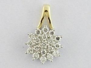 pendente dell'oro giallo 10K con il diamante (LPG1102)