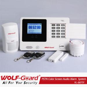 Certificado FCC! Sistema de seguridad de la alarma del teléfono PSTN con pantalla TFT en color