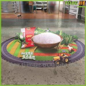 個人化された設計されていた付着力の円形のビニールの床のステッカー