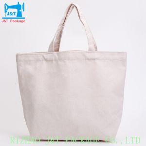 La vente en gros acheteur de plage personnalisée bon marché de gros de la promotion de coton blanc standard de 100% recyclable sac de coton commercial
