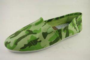 Green confère à l'impression toile canevas de femmes supérieur de l'exécution Sneaker Shoe (NU051)