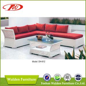Hermoso conjunto sofá de mimbre blanco