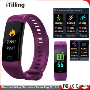 La pantalla a color de moda distribuidor impermeable Bluetooth Fitness Sport elegante Pulsera Reloj de pulsera con Monitor de ritmo cardíaco, tensiómetro