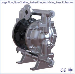 1-1/2 大きい流れのステンレス鋼の空気によって作動させる二重ダイヤフラムポンプ