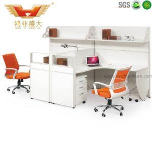 ترقية حديثة أبيض مكتب حجيرة مركز عمل مع تخزين كبيرة ([ه-ب10])