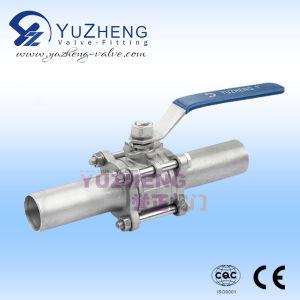 Válvula de bola de tubo de acero inoxidable de Extensión 3PC