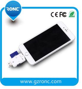 Portable TF/Micro SD Lecteur de carte USB OTG pour Apple/téléphone Android