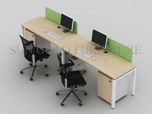 Divisorio moderno dell'ufficio di Alibaba del cubicolo della melammina modulare di legno della stazione di lavoro (SZ-WST744)