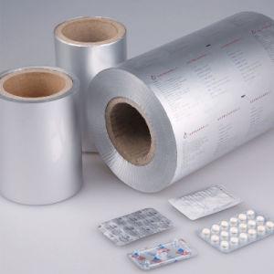 Material de embalaje de productos farmacéuticos Blister sellado en caliente de una lámina de aluminio (PTP).
