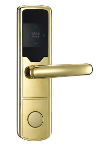 Fechadura de porta eletrônica WiFi / Trava da Tampa com acabamento Dourados