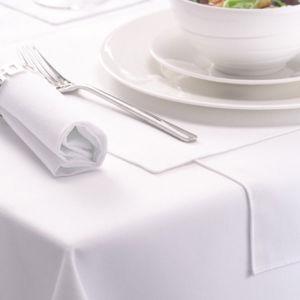 El Hacer girar-Poliester blanco Algodón-Siente las servilletas del hotel (DPFR80127)