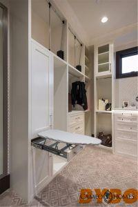 Traditionelle weiße hohe glatte Lack-Ende-Garderobe by-W-113