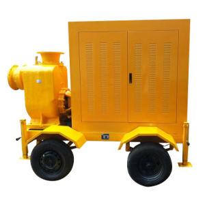 Motor diesel bomba de agua de la basura con remolque