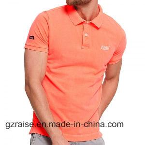 자수 로고를 가진 2018년 Casul 남자 골프 폴로 셔츠