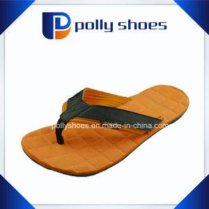 Новые фотографии мужчин оранжевый серый Flip флоп сандалии