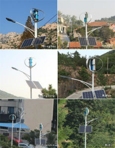 Petite éolienne verticale Roof-Mounted vertical du vent Turbine éolienne à axe vertical du générateur