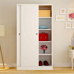 بسيطة حديثة [مفك] خشبيّة بيضاء غرفة نوم خزانة ثوب تصميم