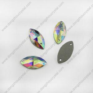 De Steen van de Juwelen van het Glas van ab Machinaal gesneden met Twee Gaten