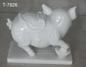 Escultura Animal de piedra, mármol, la Estatua de cerdo la escultura, la Casa de ornamento y la decoración de jardín