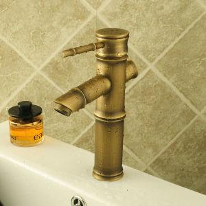 タケ球体の真鍮の浴室の洗面器のコック(6656)