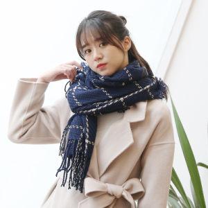 2018 Tecidos de Inverno Primavera Mulheres Cachecol aqueça a Caxemira Cachecóis Xales Bocal de marca de luxo