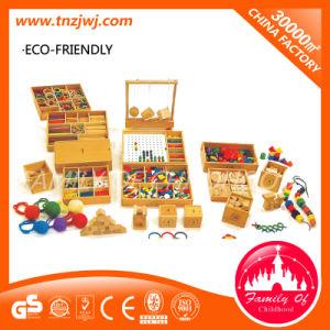 Conteggio dei giocattoli educativi di legno di Montessori dei bastoni per studiare